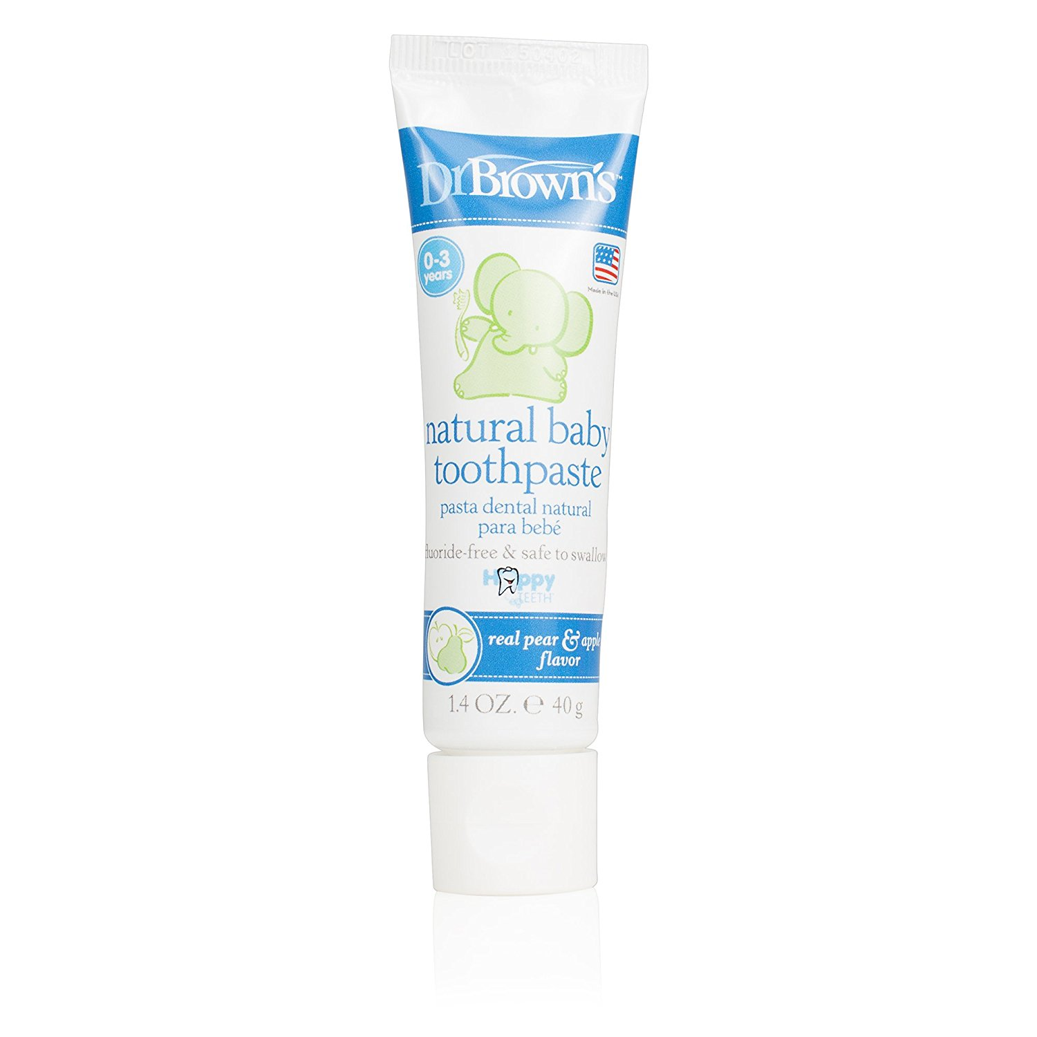 Dr Brown Natural Baby Toothpaste for Kids