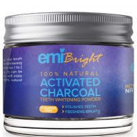 EMI Bright Activated Charcoal Natural Teeth Whitening Powder