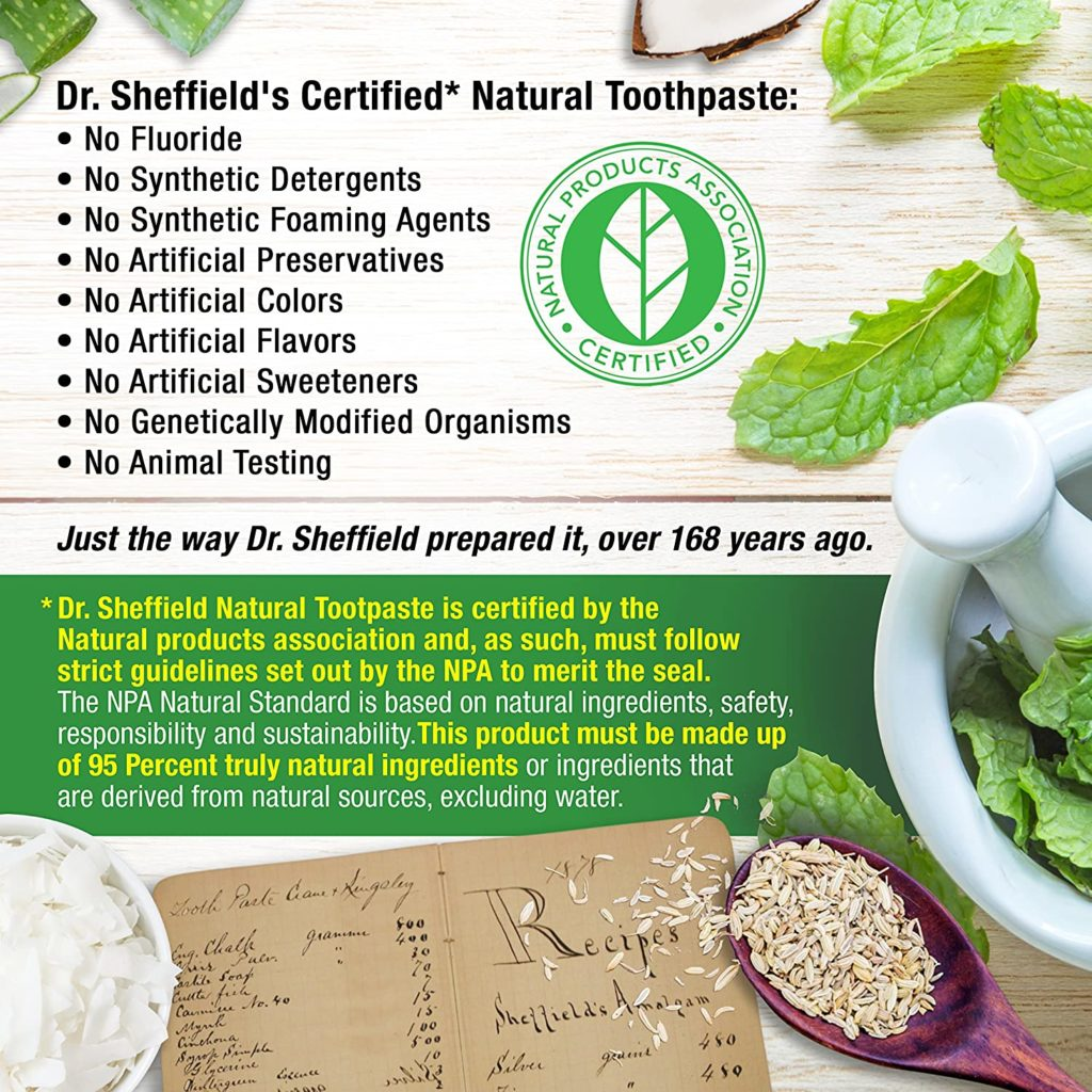 certified natural toothpaste